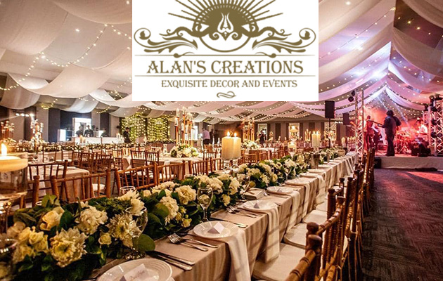 Alans creations businesses in south africa alans creations wedding decor midrand event management midrand pretoria wedding hire junglespirit Gallery